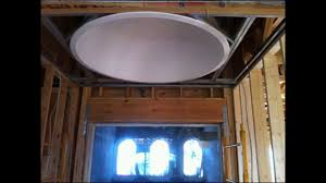 ceiling domes with lighting. Round Pre-Cast Ceiling Dome Installed By H3 Homes - Precast YouTube Domes With Lighting