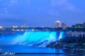 Light And Sound Show Niagara Falls Niagara Falls Light Show Nighttime Canada Blue Lights At