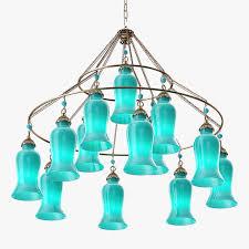 canopy designs sara glass chandelier 3d model max obj 3ds fbx mtl 2