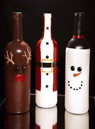 How To Decorate A Wine Bottle For Christmas Christmas Wine Bottle Decorations DIY Etsy fun stuff Pinterest 43