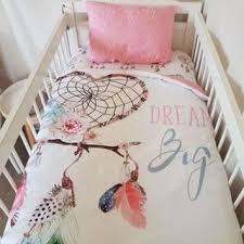 Dream Catcher Nursery Bedding POPPY COTTON COT QUILTS 64