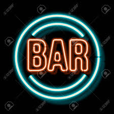 neon word signs. Interesting Neon Illustration  Retro Neon Sign With The Word Bar Vintage Electric Symbol  Burning A Pointer To Black Wall In Club Bar Or Cafe On Neon Word Signs G