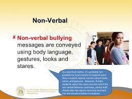 bullying   non verbal non verbal bullying