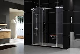 modern frameless shower doors. Frameless Sliding Tub Shower Doors And DreamLine Showers Enigma Door Modern O