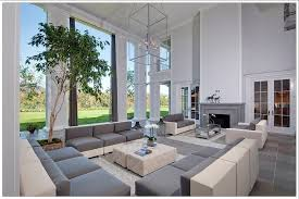 beautiful sofa living room 1 contemporary. Immense, Two Story Living Room In Grey And White Tones, Featuring Wrap Around Beautiful Sofa 1 Contemporary