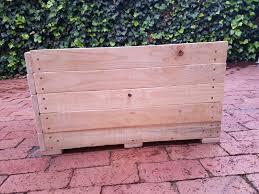 square wooden planter box