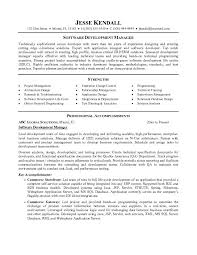 Project Management Executive Resume Example Inside Software Manager