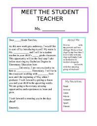 Meet The Teacher Letter Templates Meet The Student Teacher Letter Worksheets Teaching