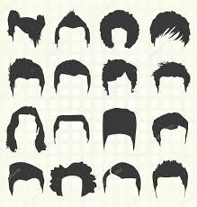 男性の髪型のシルエットのベクターを設定します ストックベクター