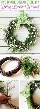 five minute diy spring easter wreath