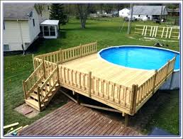 above ground round pool with deck. Delighful Ground Concrete In Ground Pools Prices Above  Intended Above Ground Round Pool With Deck A