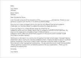 Letters For Scholarships Thank You Letter For Scholarship Bravebtr