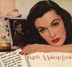 woman modelling 1940s makeup look