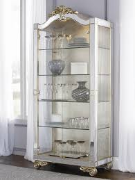 Silver Leaf Decoration Jessica Mcclintock Couture Two Door Silver Leaf Curio Cabinet By