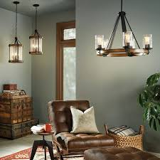 big space wood chandelier lighting