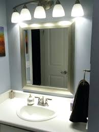 Mirror Light Battery Powered Bathroom Cabinets Illuminated Mirrors