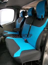 blue leatherette made to measure van seat covers sai baba s car seat covers ltd
