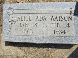 Alice Ada Weaver Watson (1863-1934) - Find A Grave Memorial
