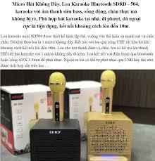 Micro Hát Không Dây Loa Karaoke Bluetooth SDRD - 504 karaoke với âm thanh  siêu bass sống động chân thực mà không bị rè Phù hợp hát karaoke tại nhà đi  phượt