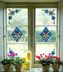decor creative stained gl window decorations excellent home