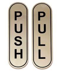 Shreyas Signages Push Pull Decorative Plate Gold