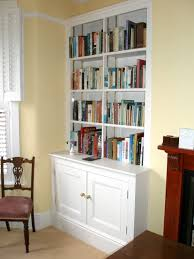 alcove cupboard and shelving painted
