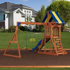 Backyard Discovery Providence Cedar Swingset with Sandbox - Free Shipping  Today - Overstock.com - 14335248