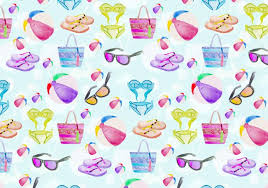 Summer Pattern Mesmerizing Free Vector Summer Seamless Pattern Download Free Vector Art