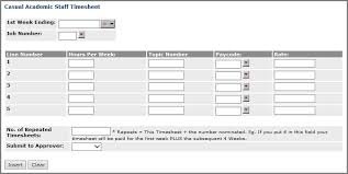 Time Sheets How To Enter Timesheets Flinders University
