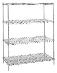 492631 intermetro industries 1818nc wire shelving super erecta shelf 1 shelf adjule chrome plated steel
