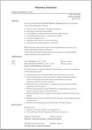 Warehouse Technician Resume Pharmacy Technician Resume Resume For Study Pharmacy Technician 22