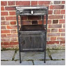 vintage industrial french metal cabinet