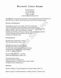 Software Testing Resume Samples For Freshers Elegant Resume Format