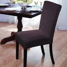 madison velvet damask stretch dining chair slipcovers chocolate brown geometric
