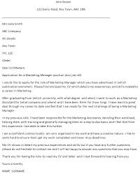 Marketing Cover Letter Sample Marketing Manager Cover Letter Example Icover Org Uk