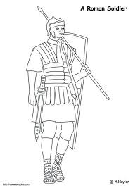 Coloring Page Roman Soldier Img 4186