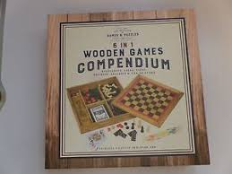 Wooden Games Compendium Professor Puzzle 10000 in 100 Wooden Games Compendium Chess Draughts 12