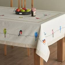 maison d hermine birs on wire 100 cotton tablecloth 60 inch by 60 inch