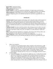 persuasive speech outline sentence outline motivational speech 2 pages success speech final