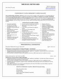 Construction Management Resume Reference Construction Management