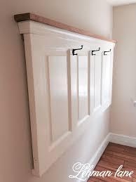 diy old door into coat rack