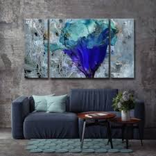oliver james blue flower canvas wall art on matching canvas wall art with shop matching sets discover our best deals at overstock