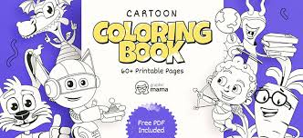 Print coloring pages online or download for free. Cartoon Coloring Book 60 Free Printable Pages Pdf By Graphicmama Graphicmama Blog