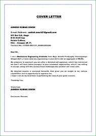 Cover Letter Sample For Mechanical Engineer Resume Free Resume