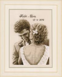 Vervaco Cross Stitch Charts Wedding Happiness