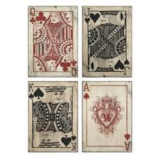 leonato playing card wall decor set of 4  on vintage metal art wall decor with shop vintage metal art discover our best deals at overstock