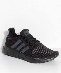 adidas mens shoes. adidas swift run core \u0026 utility black shoes mens y