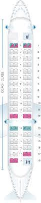 Bombardier Crj 700 Aircraft Seating Chart Seat Map Alaska Airlines Horizon Air Bombardier Crj700