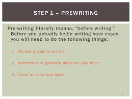 steps of the writing process pre writing literally means  pre writing literally means before writing before you actually begin writing
