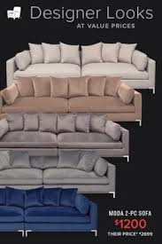 e the finer things in life by inviting the moda two piece sofa into your living room with bountiful room this piece forms the perfect marriage of